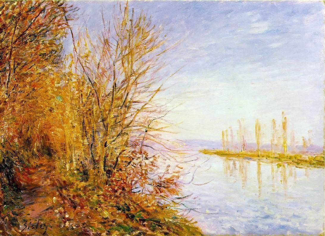 The Chemin de By through Woods at Rouches Courtaut, St. Martin s, Summer - Alfred Sisley