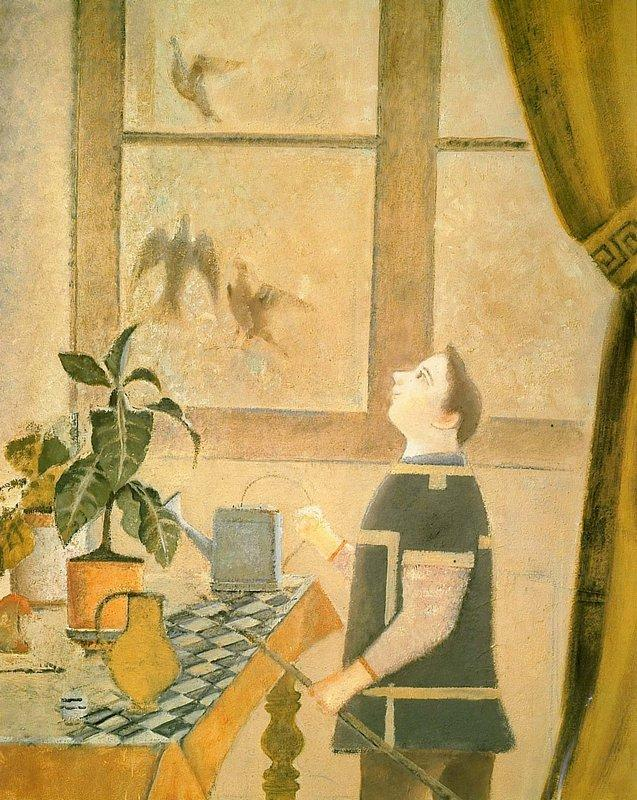 The Child with Pigeons - Balthus