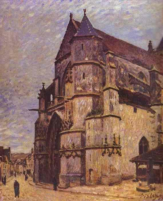 The Church at Moret, Winter - Alfred Sisley