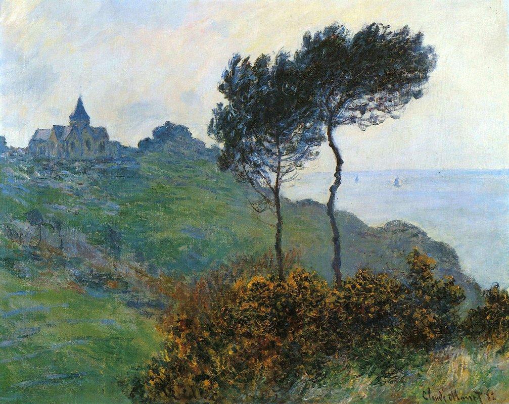 The Church at Varengaville, Grey Weather - Claude Monet