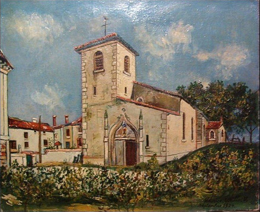 The Church of St. Bernard, Ain, in Summer - Maurice Utrillo