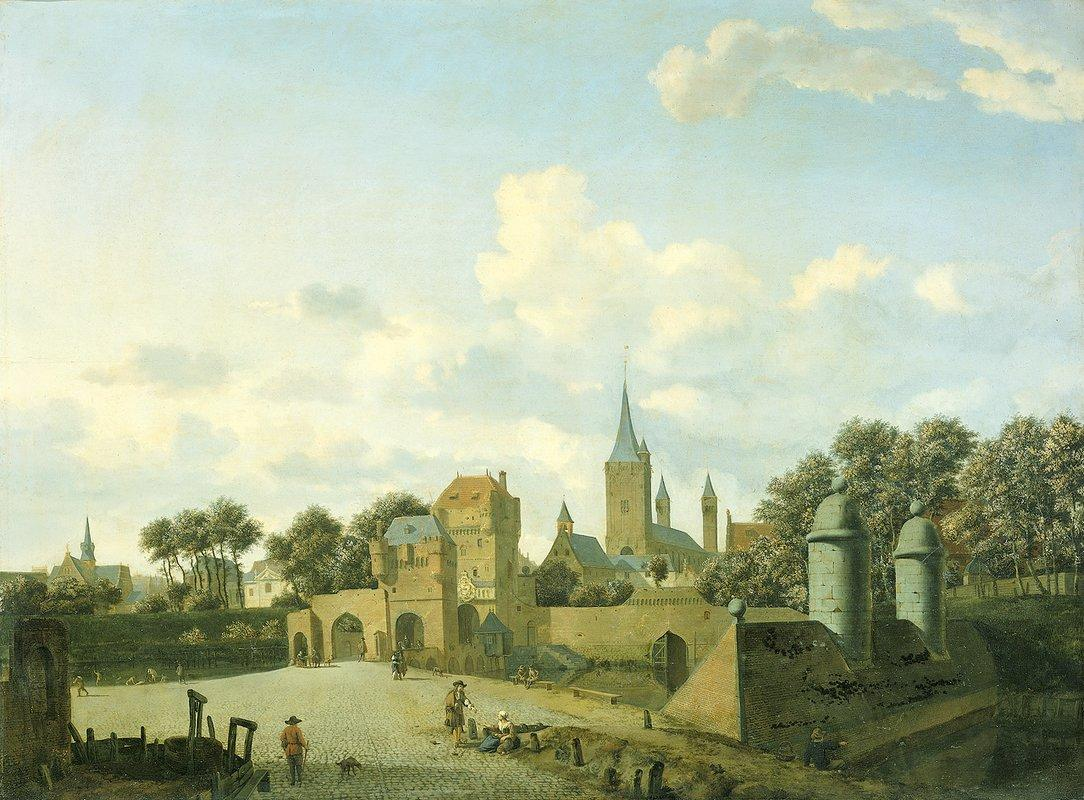 The church of St. Severin in Cologne in a fictive setting - Adriaen van de Velde