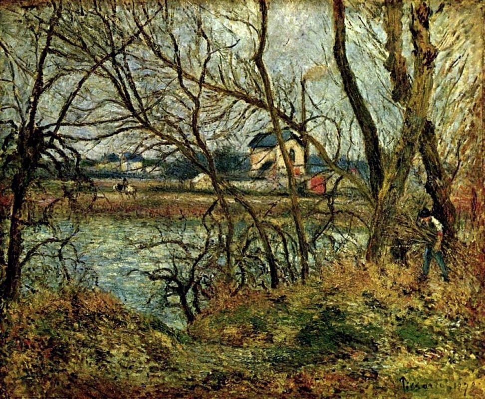 The Climbing Path, l'Hermitage - Camille Pissarro
