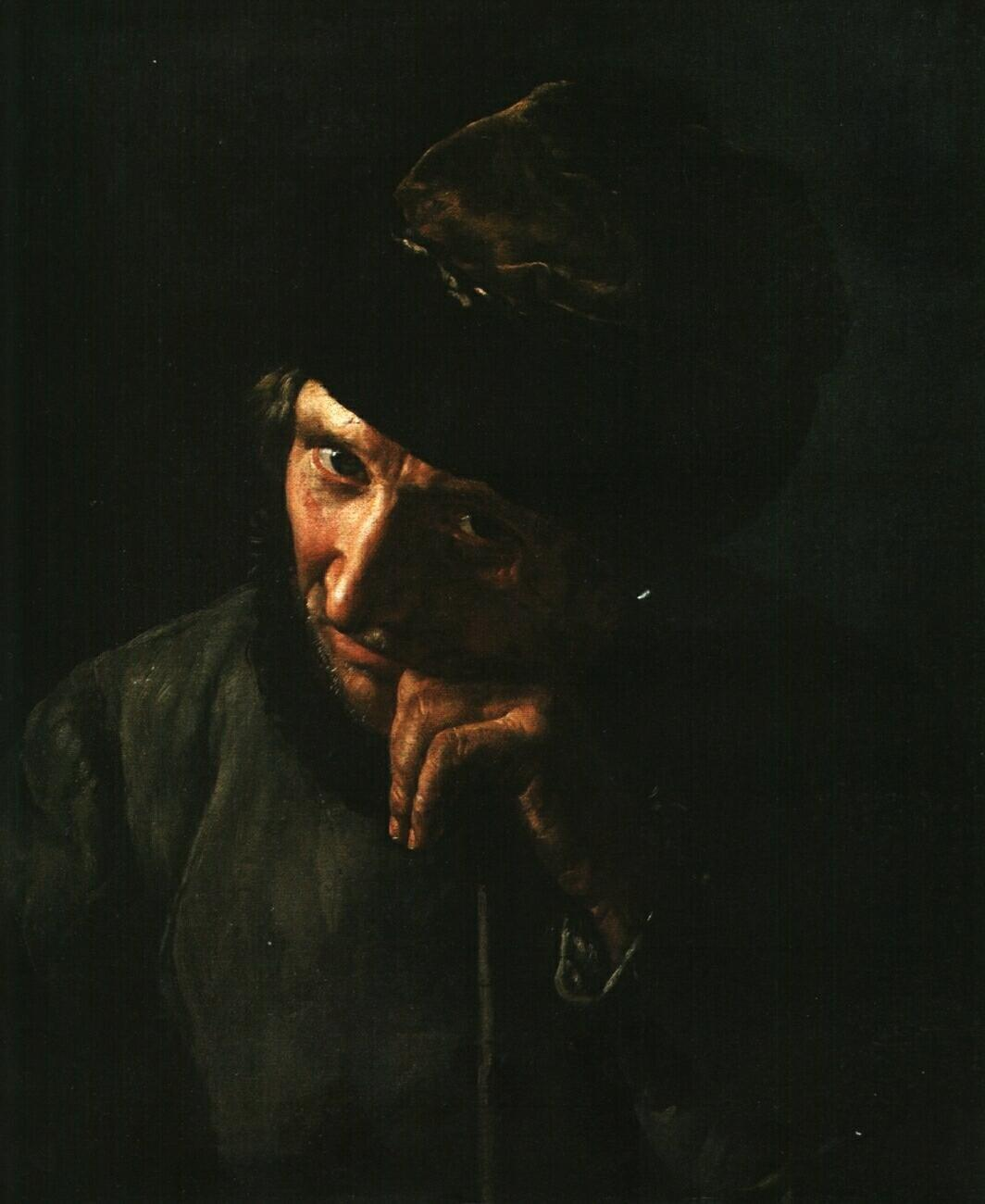 The coachman leaning on a whip handle - Vasily Tropinin