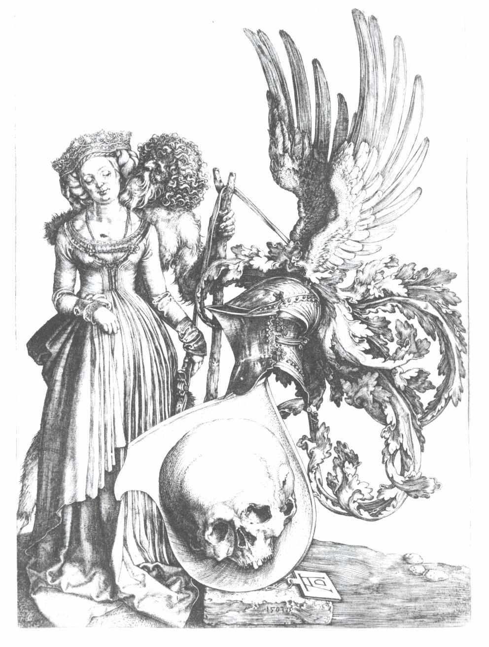 The coat of arms with the skull - Albrecht Durer