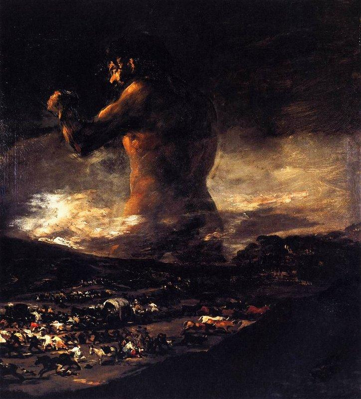 The Colossus - Francisco Goya