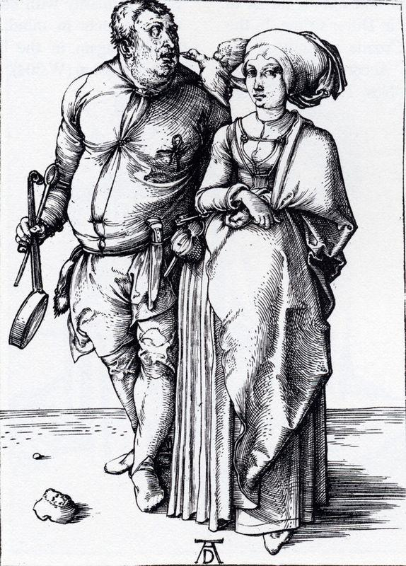 The Cook And His Wife - Albrecht Durer