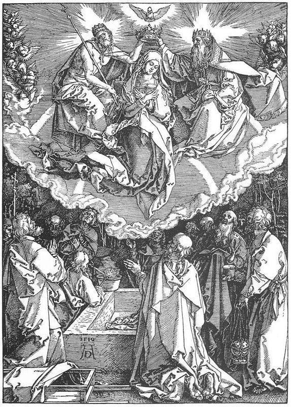 The Coronation of the Virgin - Albrecht Durer