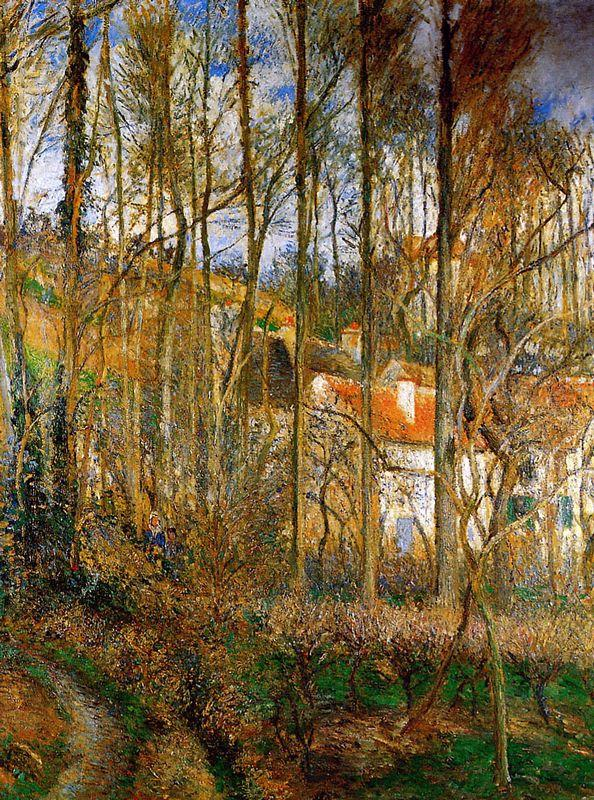The Cote des Boeurs at l'Hermitage, near Pontoise - Camille Pissarro
