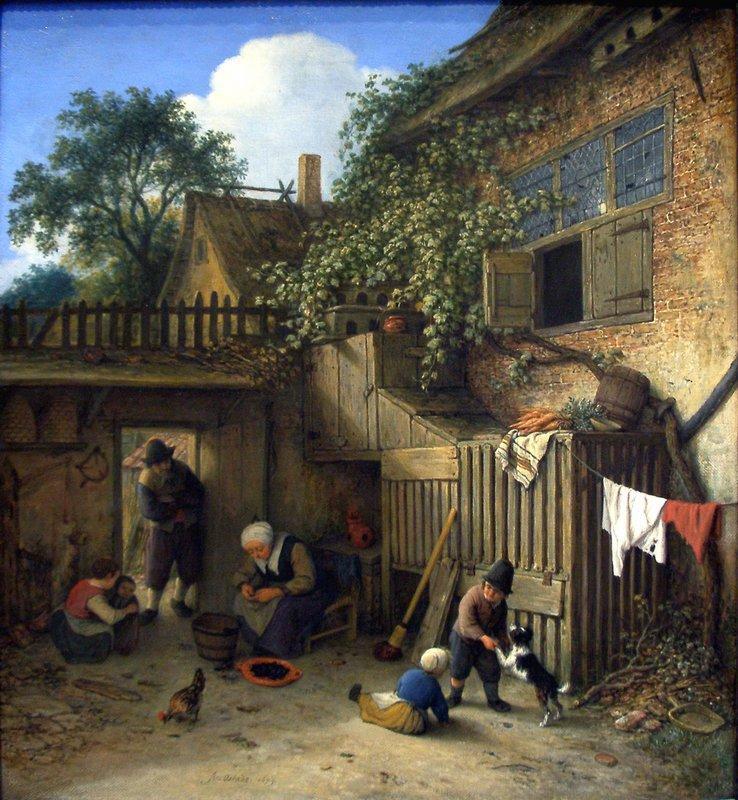 The Cottage Dooryard - Adriaen van Ostade