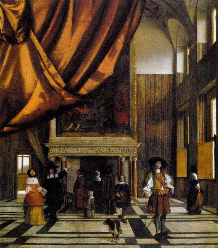 The Council Chamber of the Burgermasters - Pieter de Hooch