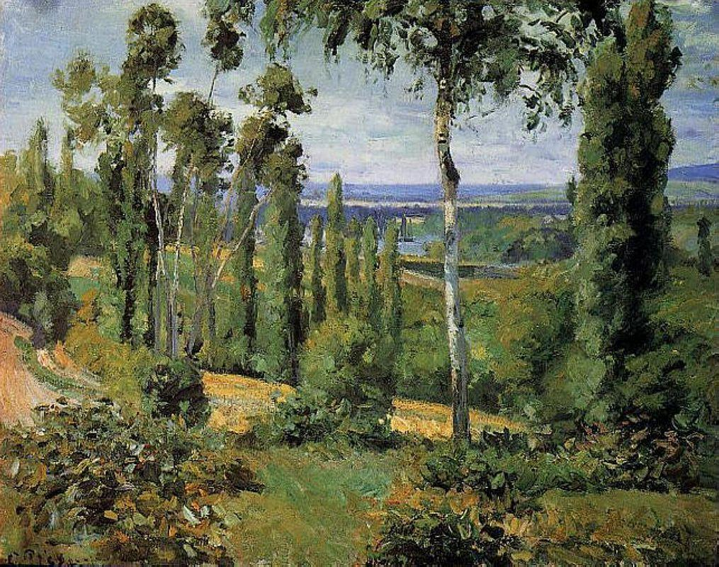 The Countryside in the Vicinity of Conflans Saint Honorine - Camille Pissarro