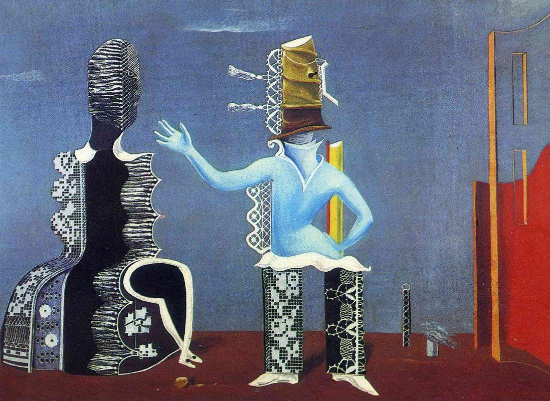 The Couple in Lace - Max Ernst