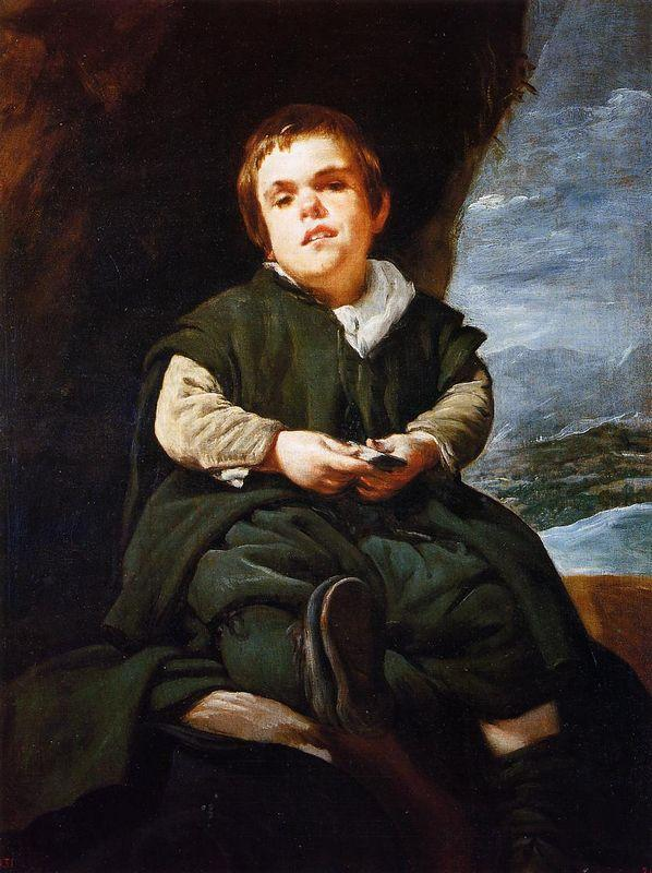 The Court Dwarf, Don Franciso Lezcano called 'El Nino de Vallecas' - Diego Velazquez
