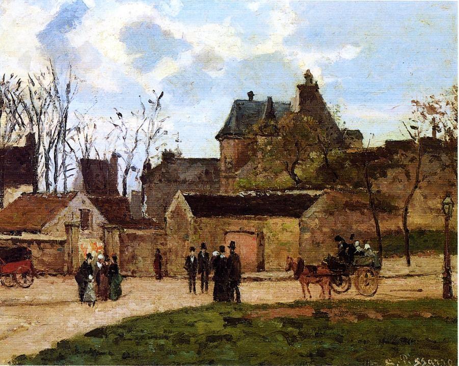 The Court House, Pontoise - Camille Pissarro