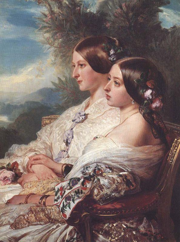 The Cousins: Queen Victoria and Victoire, Duchesse de Nemours - Franz Xaver Winterhalter