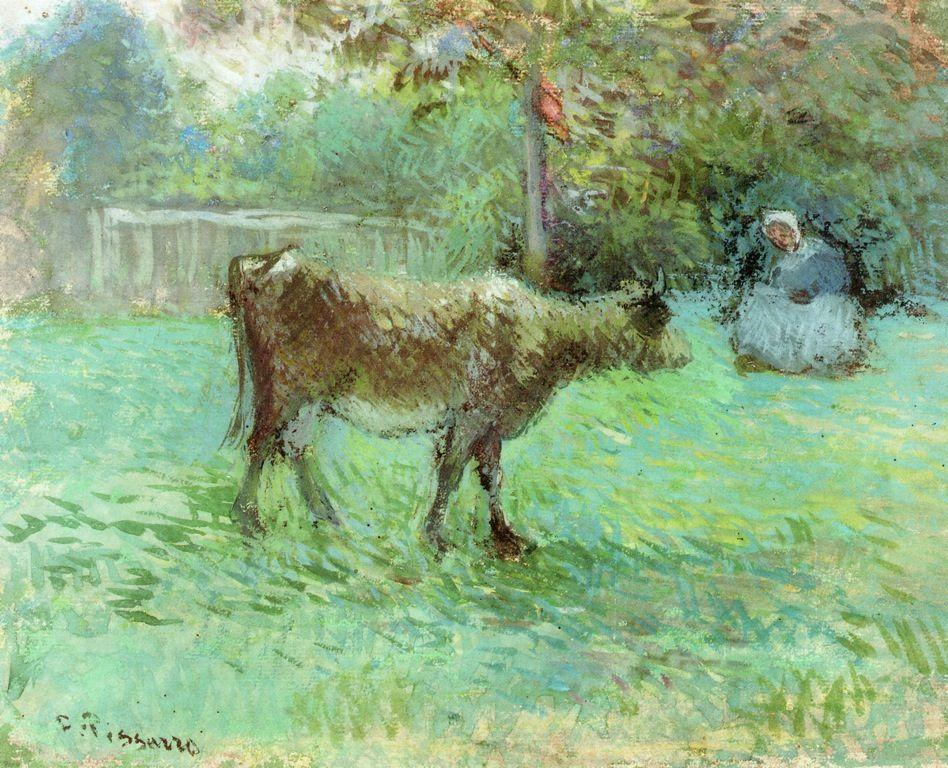 The Cowherd - Camille Pissarro