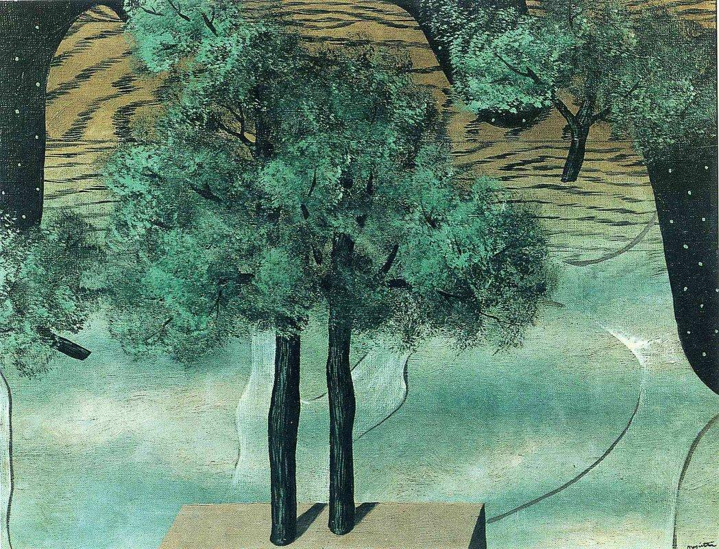 The cultivation of Ideas - Rene Magritte