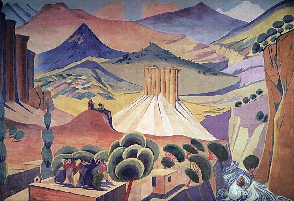 The curtain of the State Drama Theater of Armenia - Martiros Saryan