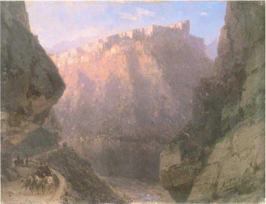 The Daryal canyon - Ivan Aivazovsky