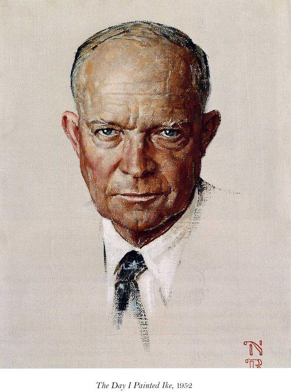 The Day I Painted Ike - Norman Rockwell