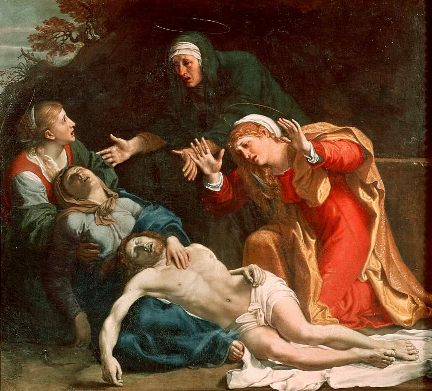 The Dead Christ Mourned (The Three Maries) - Annibale Carracci