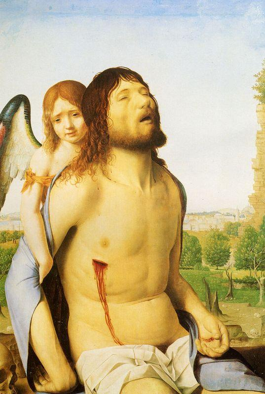 The Dead Christ Supported by an Angel - Antonello da Messina