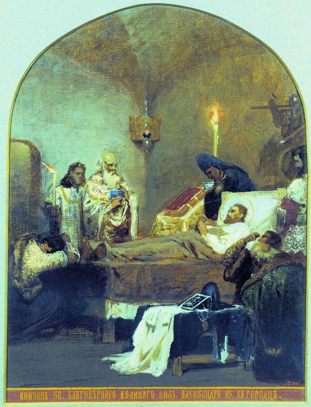 The death of Alexander Nevsky - Henryk Siemiradzki