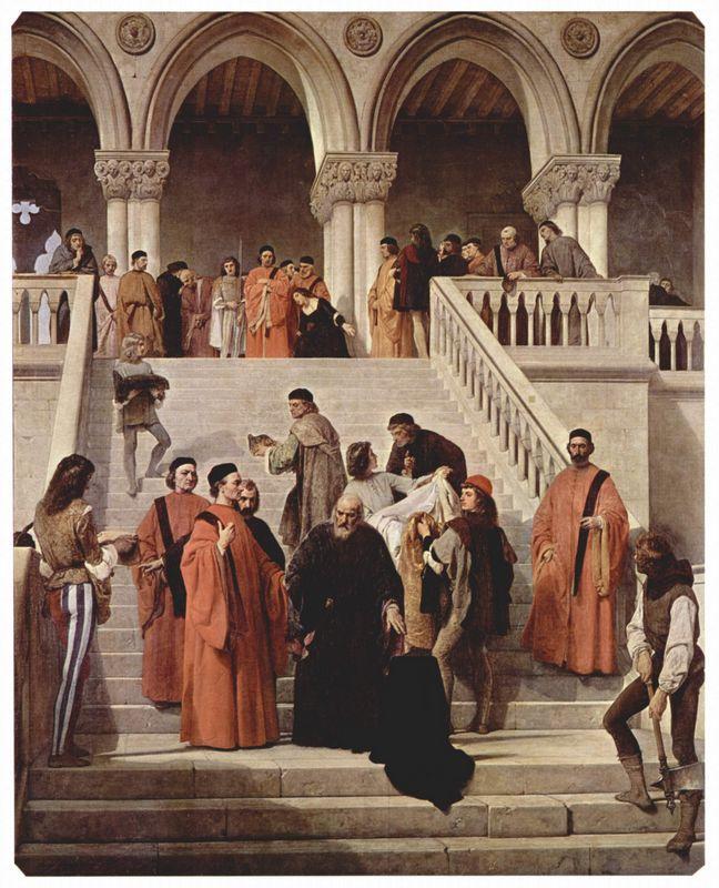 The Death of Doge Marin Faliero (The last hour of the Doge Marin Faliero) - Francesco Hayez