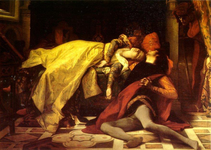 The Death of Francesca de Rimini and Paolo Malatesta  - Alexandre Cabanel
