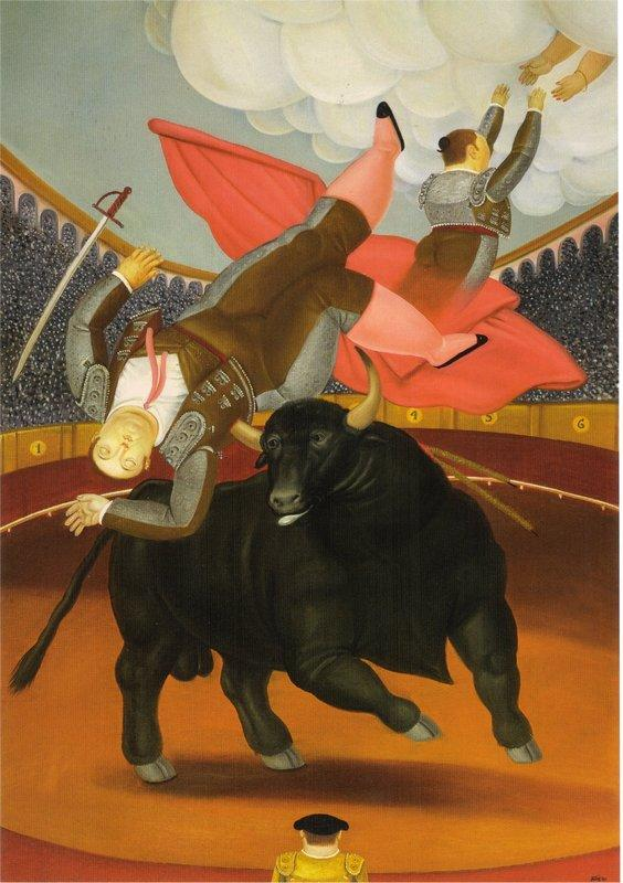 The Death of Luis Chalet - Fernando Botero