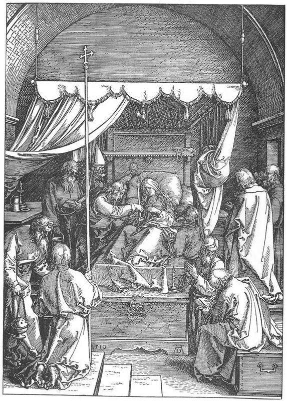 The Death of Mary - Albrecht Durer