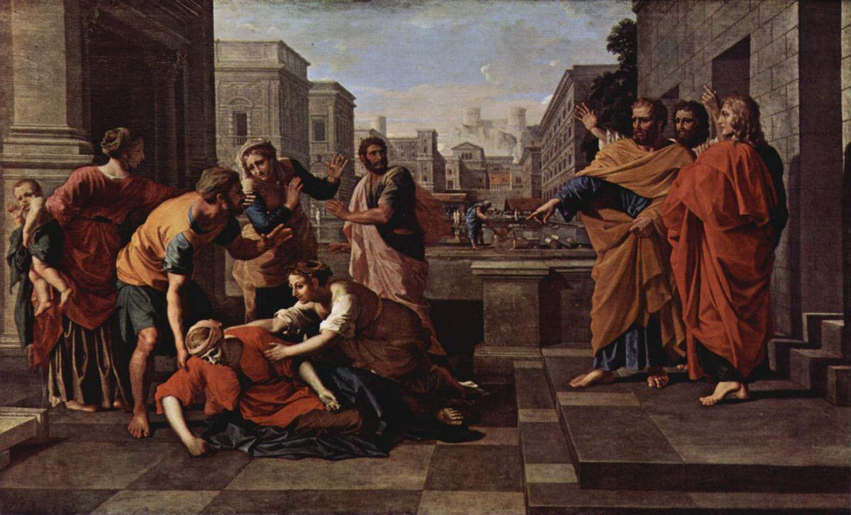 The Death of Saphire - Nicolas Poussin