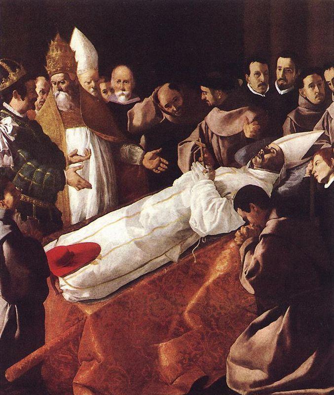 The Death of St. Bonaventura - Francisco de Zurbaran