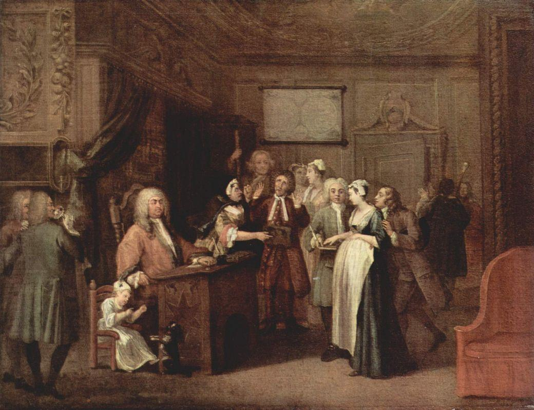 The Denunciation - William Hogarth