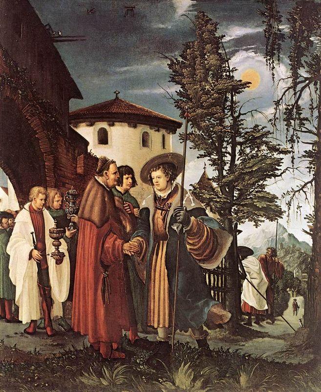 The Departure of Saint Florain - Albrecht Altdorfer