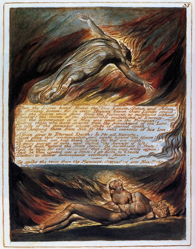 The Descent Of Christ - William Blake