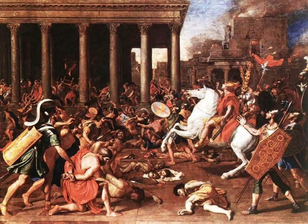 The destruction of the Temple at Jerusalem - Nicolas Poussin