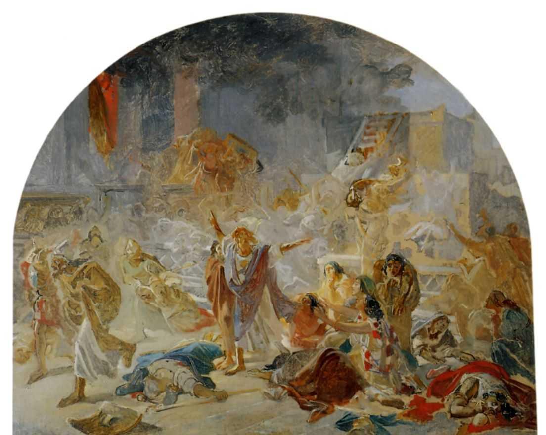 The destruction of the Temple in Jerusalem - Nikolai Ge