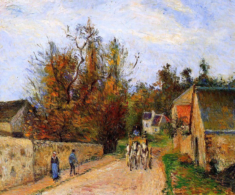 The diligence - Camille Pissarro