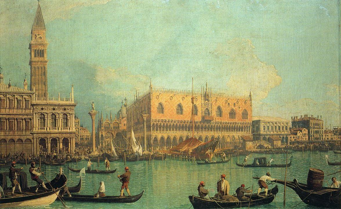 The Doge's Palace with the Piazza di San Marco - Canaletto