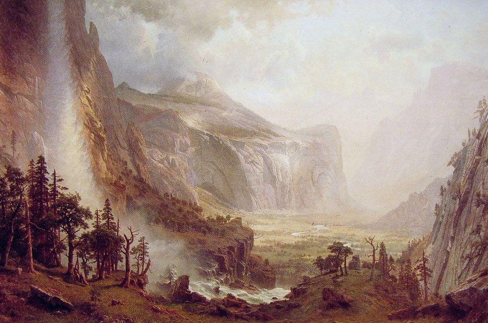 The Domes of the Yosemite - Albert Bierstadt