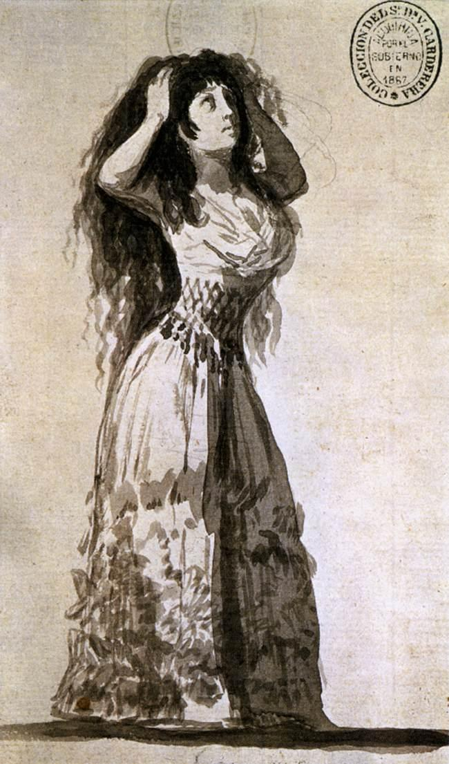 The Duchess of Alba Arranging her Hair - Francisco Goya