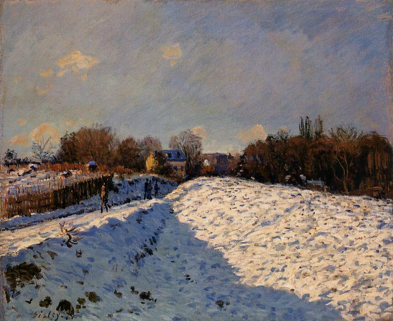 The Effect of Snow at Argenteuil - Alfred Sisley