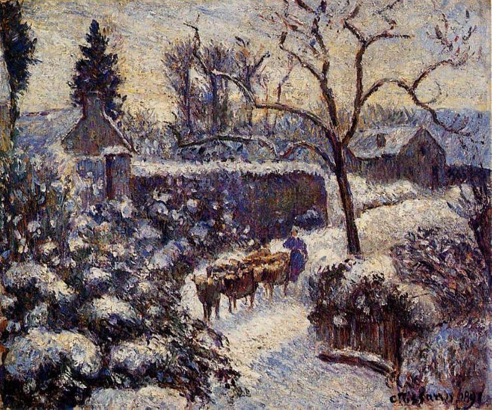 The Effect of Snow at Montfoucault - Camille Pissarro