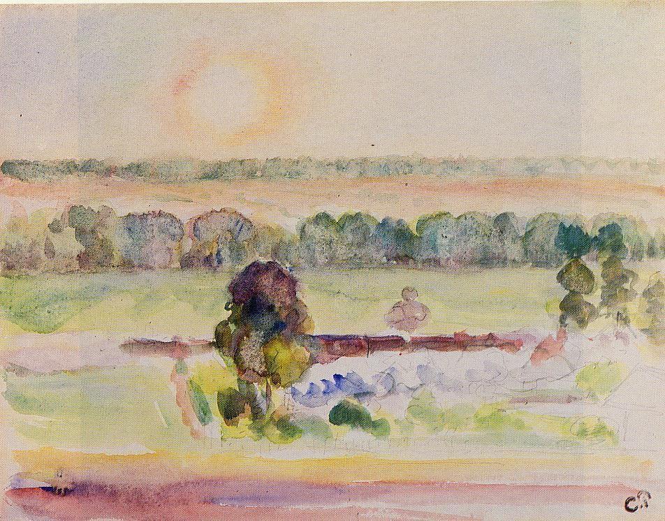 The Effect of Sunlight - Camille Pissarro