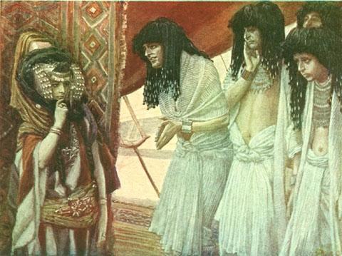 The Egyptians Admire Sarai's Beauty - James Tissot