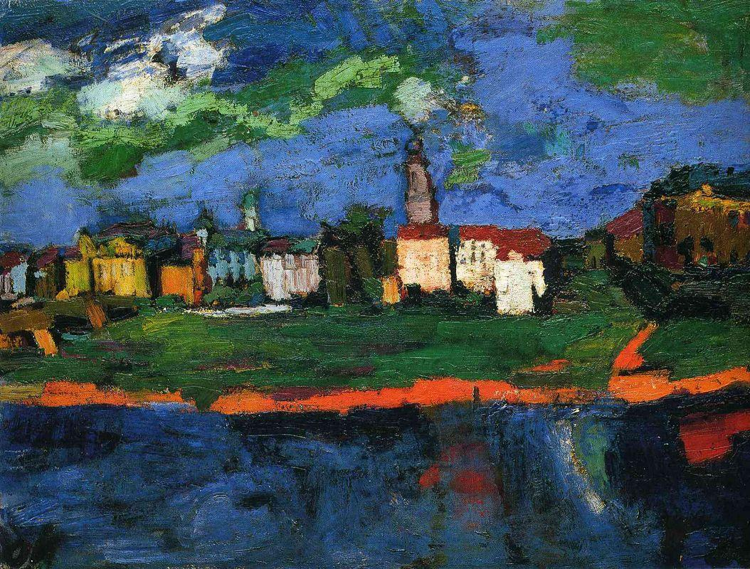 The Elbe Near Dresden - Oskar Kokoschka