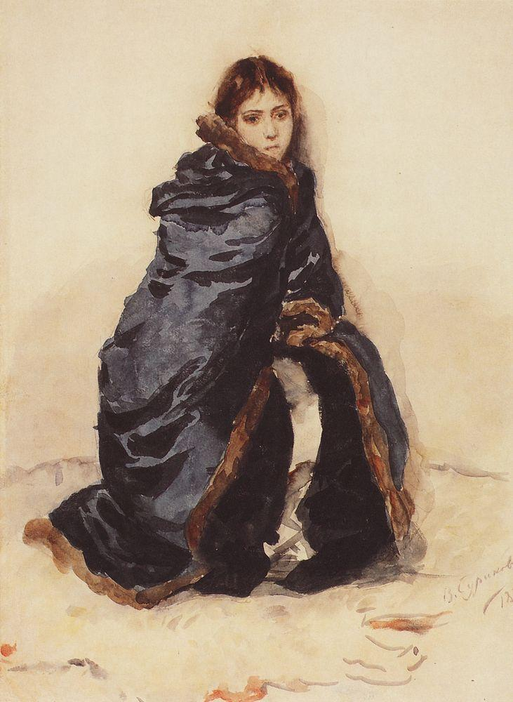 The elder Menshikov's daughter - Vasily Surikov