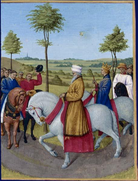 The Emperor Charles IV and the dignitaries of Paris - Jean Fouquet